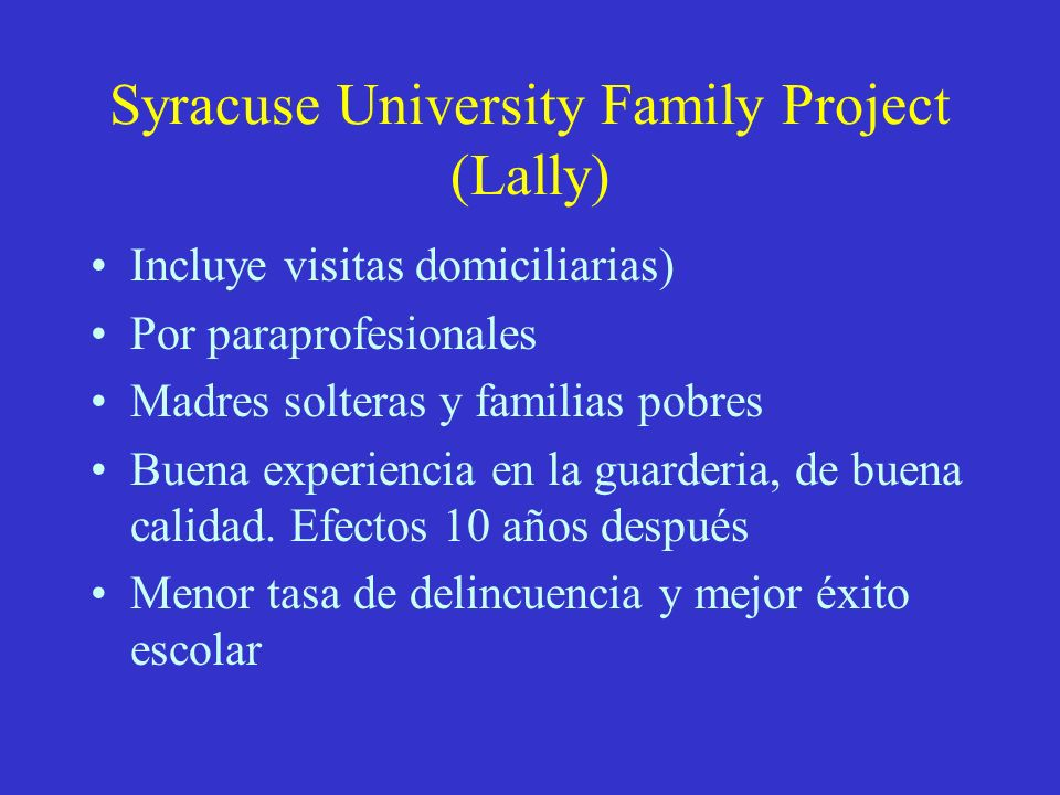 Syracuse University Family Project (Lally)