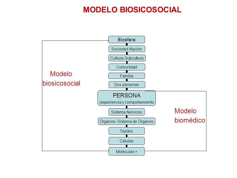 MODELO BIOSICOSOCIAL Modelo biosicosocial Modelo biomédico