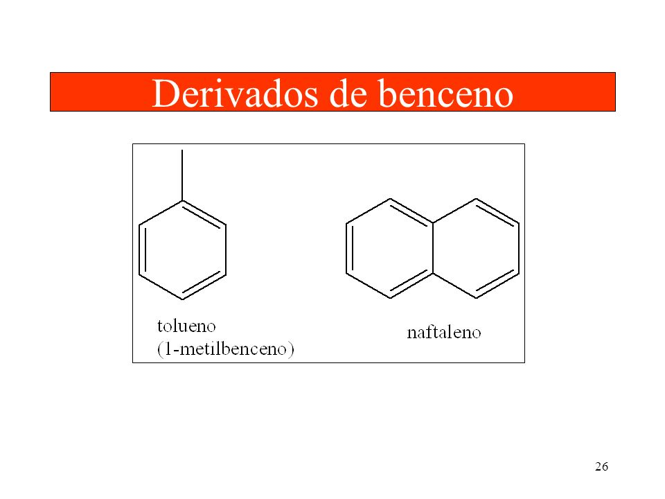 Derivados de benceno