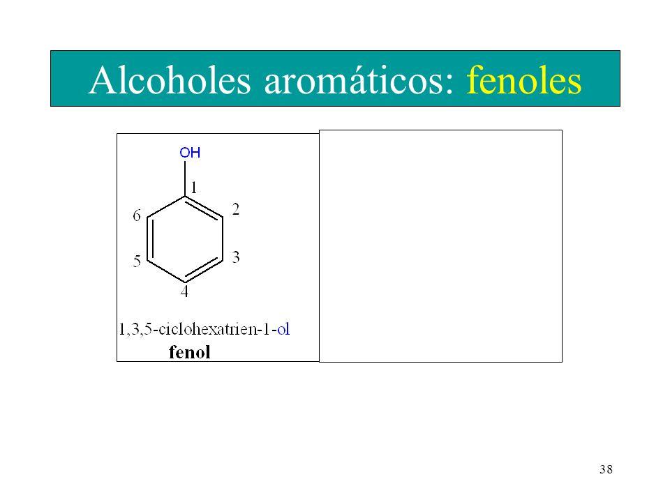 Alcoholes aromáticos: fenoles