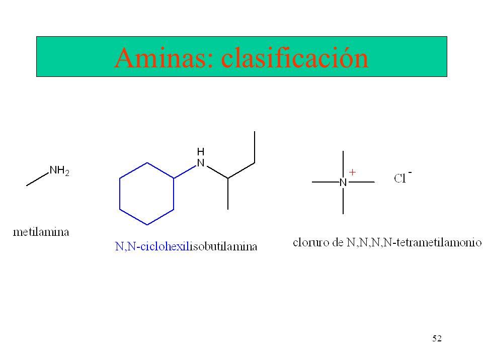 Aminas: clasificación