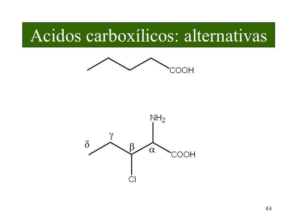 Acidos carboxílicos: alternativas