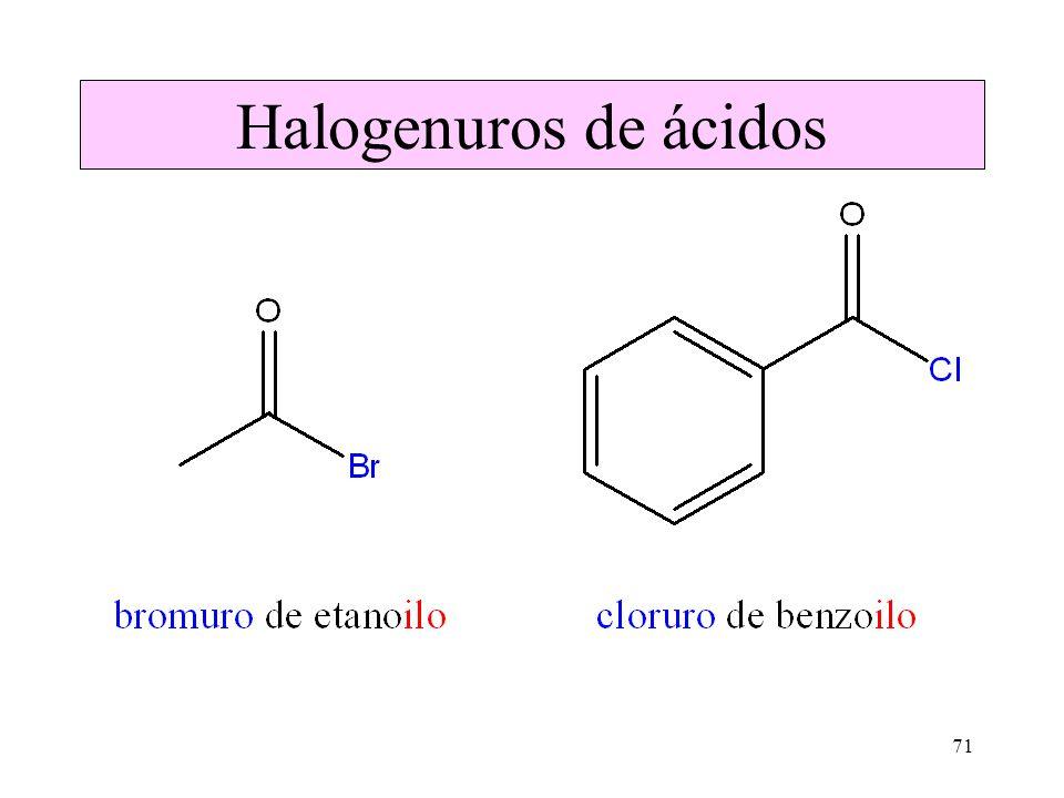 Halogenuros de ácidos