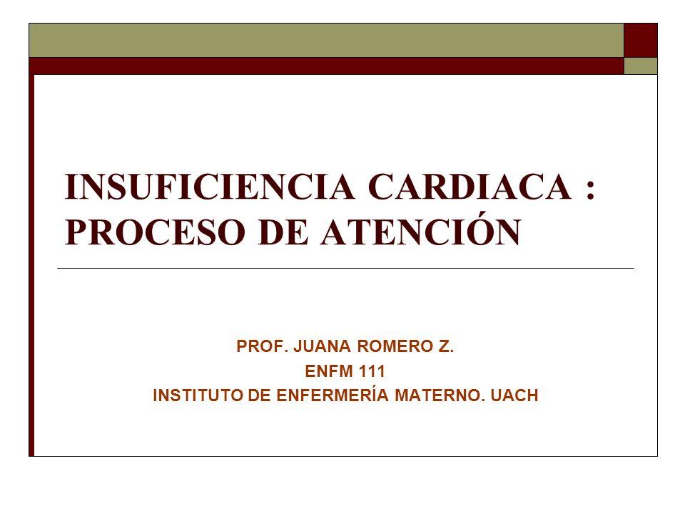 INSUFICIENCIA CARDIACA : PROCESO DE ATENCIÓN