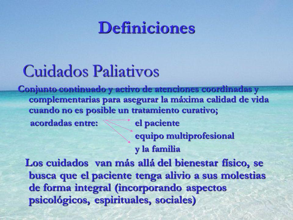 Cuidados Paliativos Definiciones