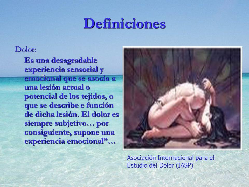Definiciones Dolor: