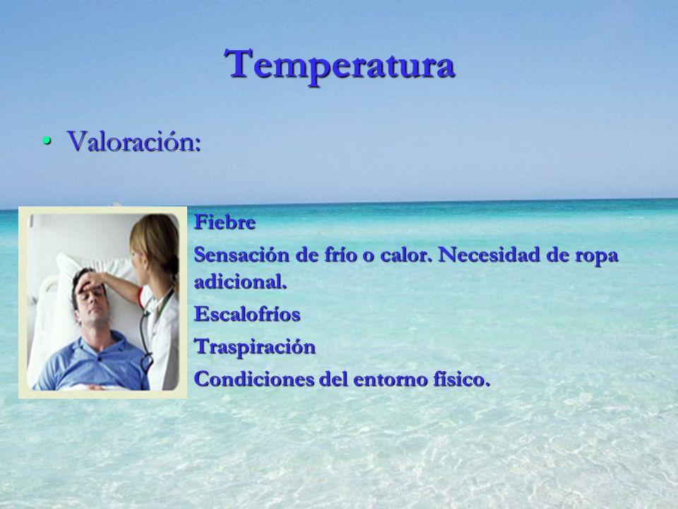 Temperatura Valoración: Fiebre