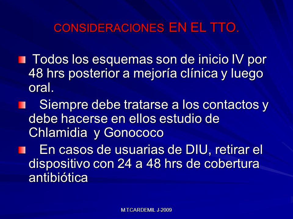 CONSIDERACIONES EN EL TTO.