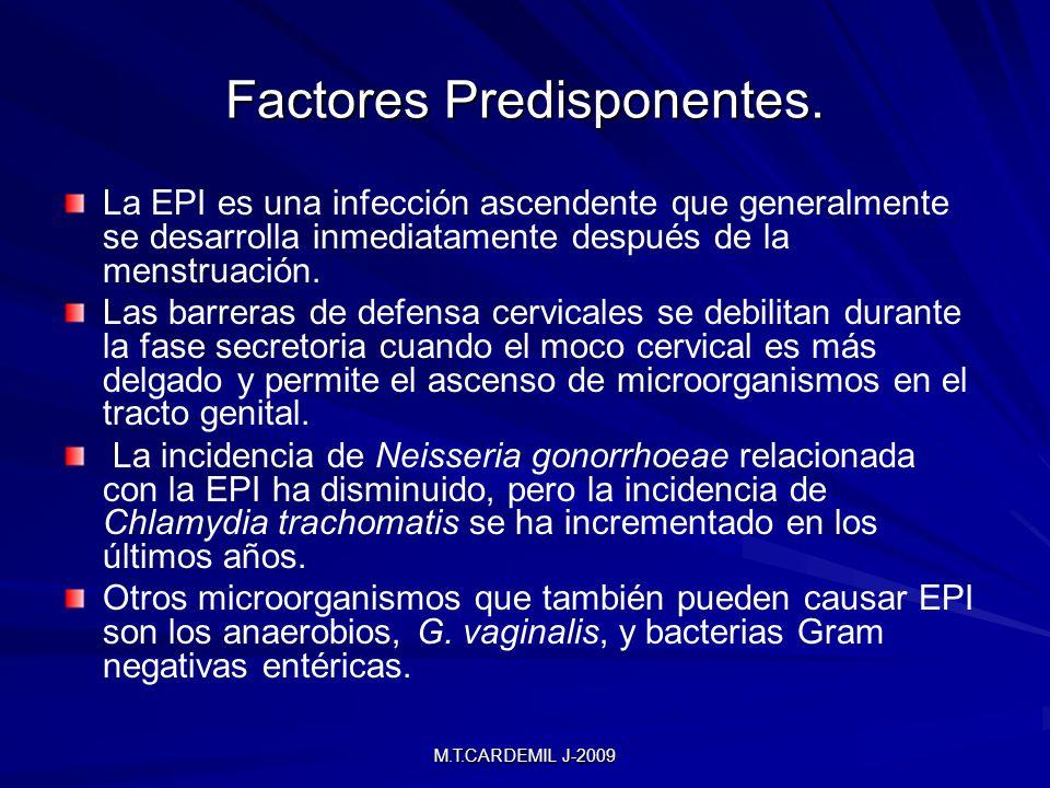 Factores Predisponentes.