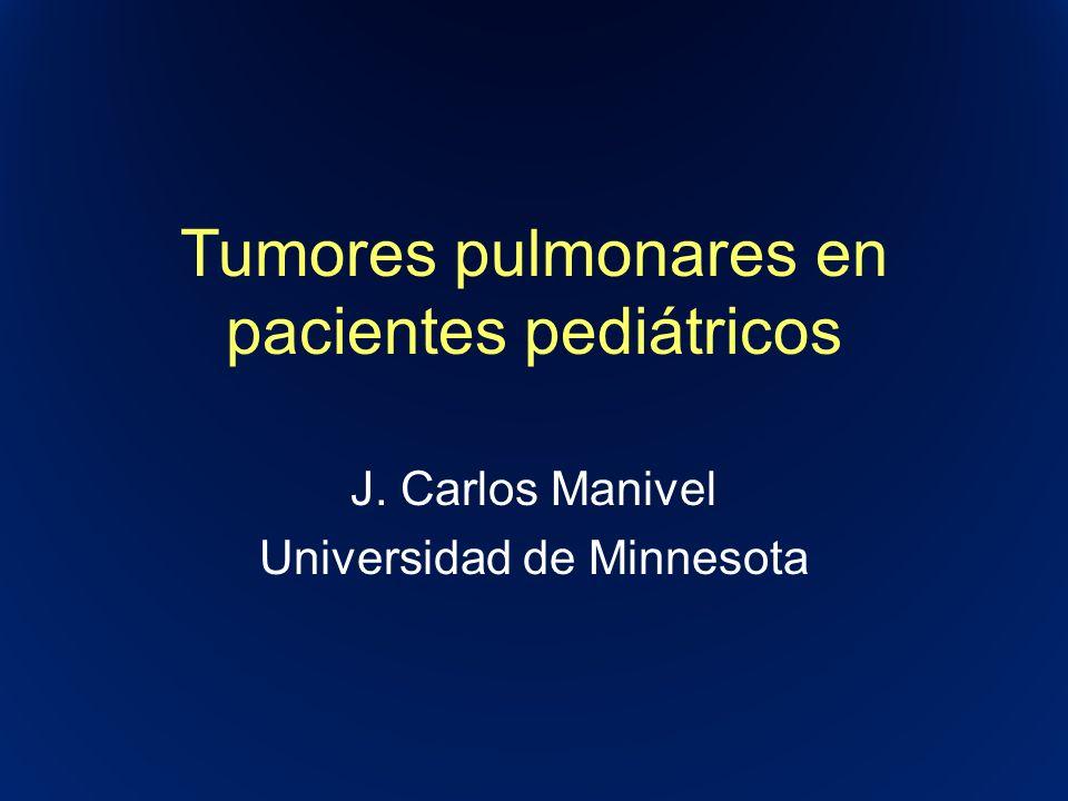 Tumores pulmonares en pacientes pediátricos