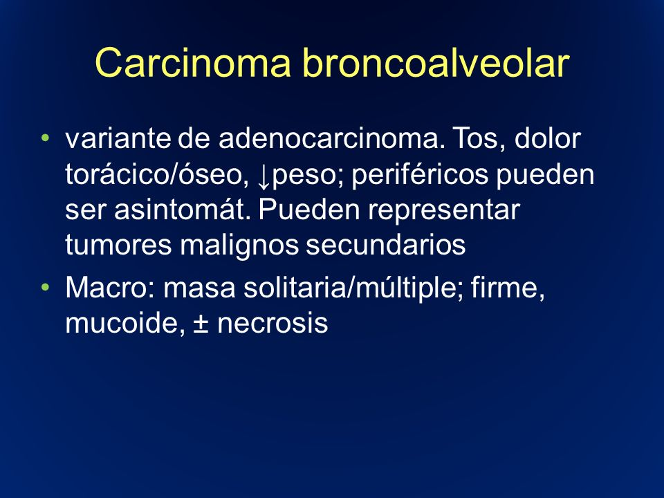 Carcinoma broncoalveolar
