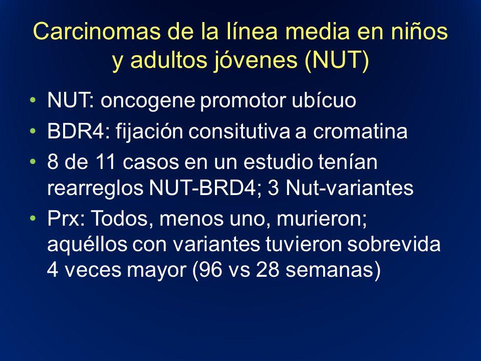 Carcinomas de la línea media en niños y adultos jóvenes (NUT)