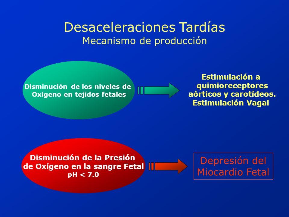 Desaceleraciones Tardías Mecanismo de producción