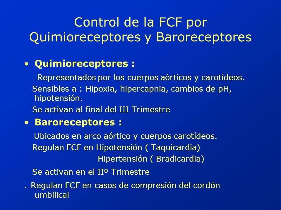 Control de la FCF por Quimioreceptores y Baroreceptores