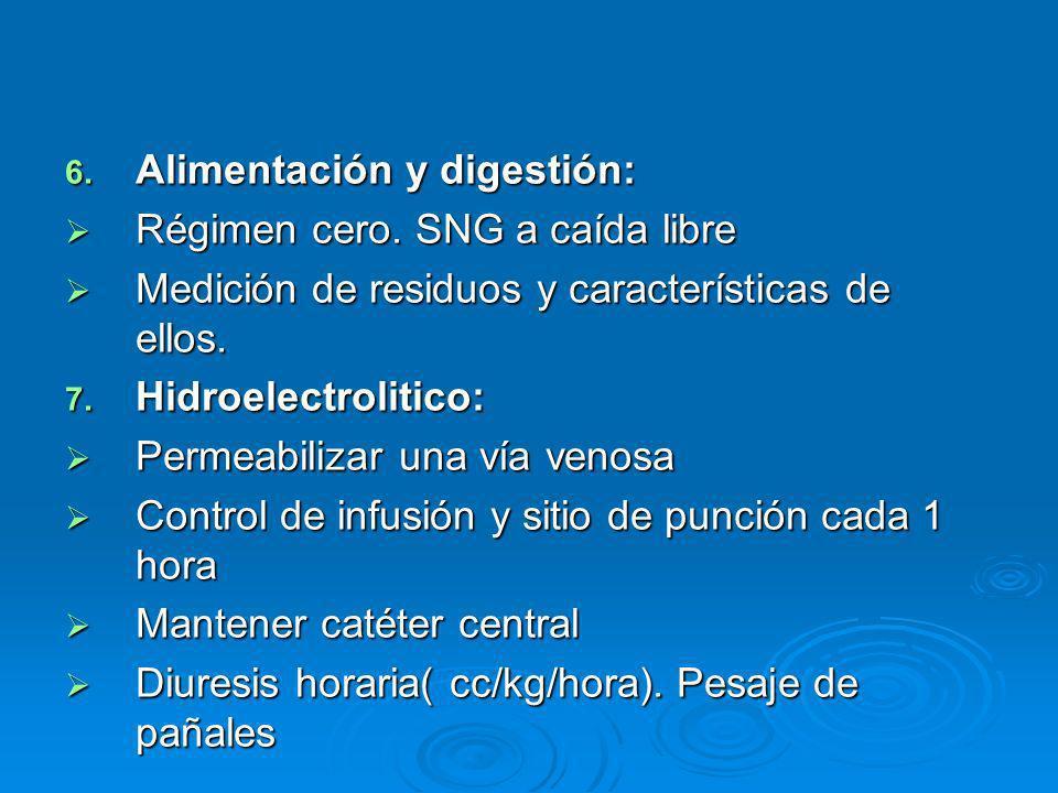 Alimentación y digestión: