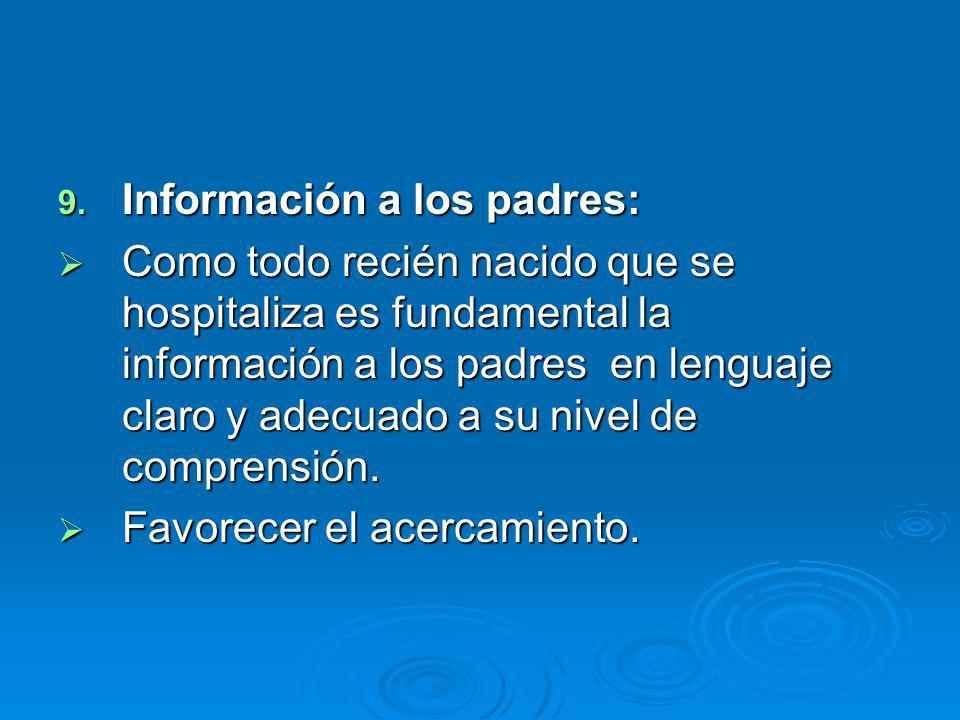 Información a los padres: