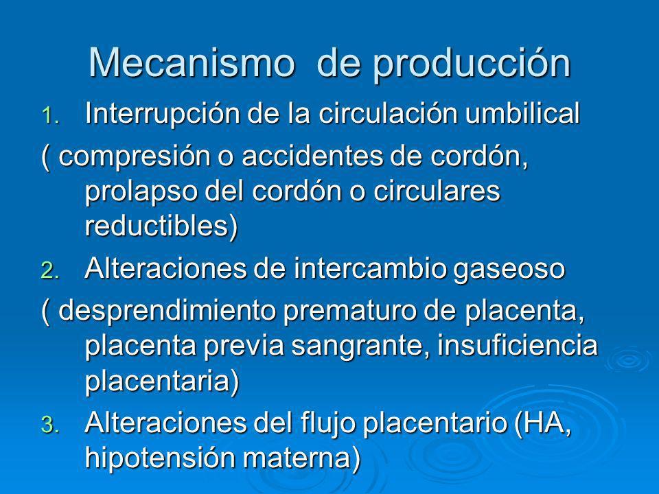 Mecanismo de producción