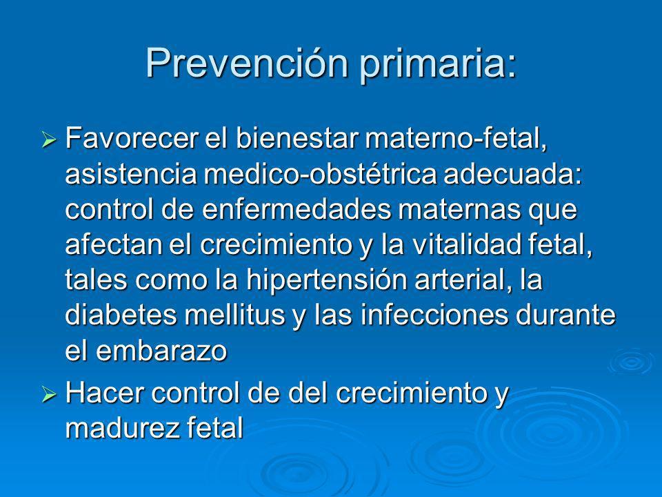 Prevención primaria: