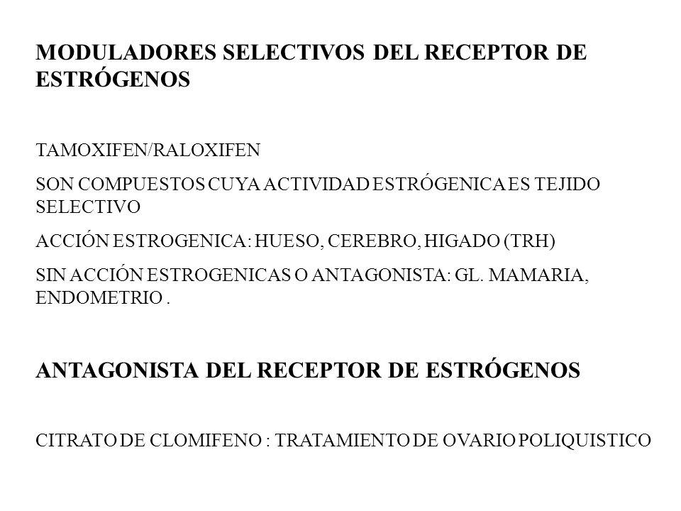 MODULADORES SELECTIVOS DEL RECEPTOR DE ESTRÓGENOS