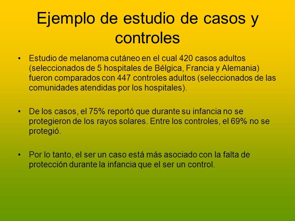 Ejemplo de estudio de casos y controles