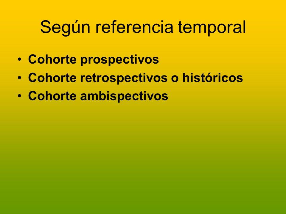 Según referencia temporal
