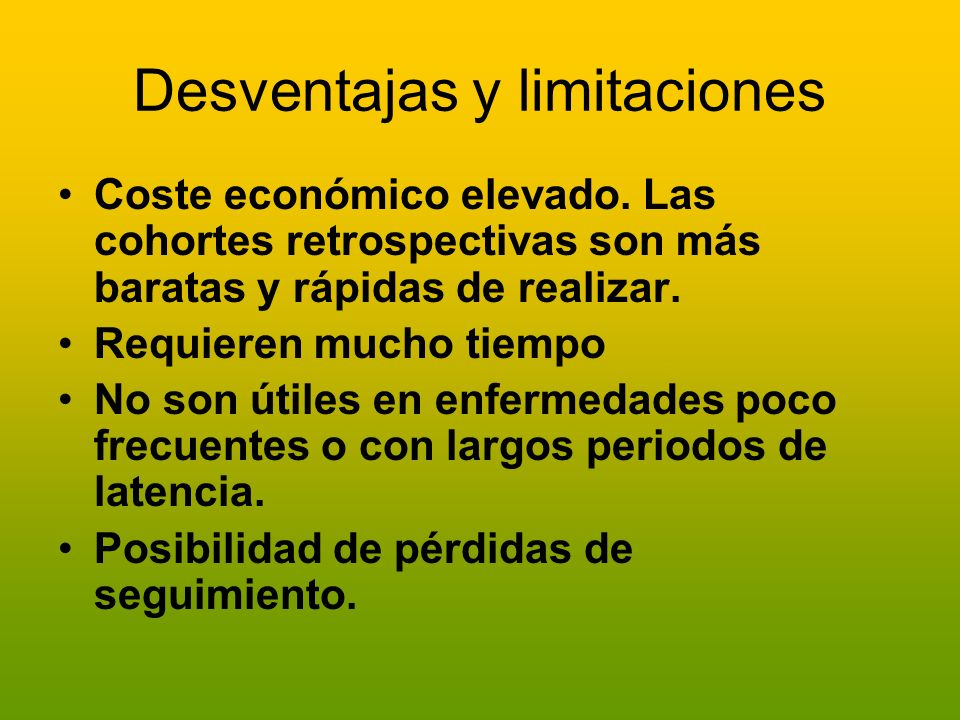 Desventajas y limitaciones