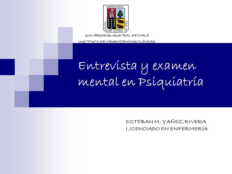Entrevista y examen mental en Psiquiatría