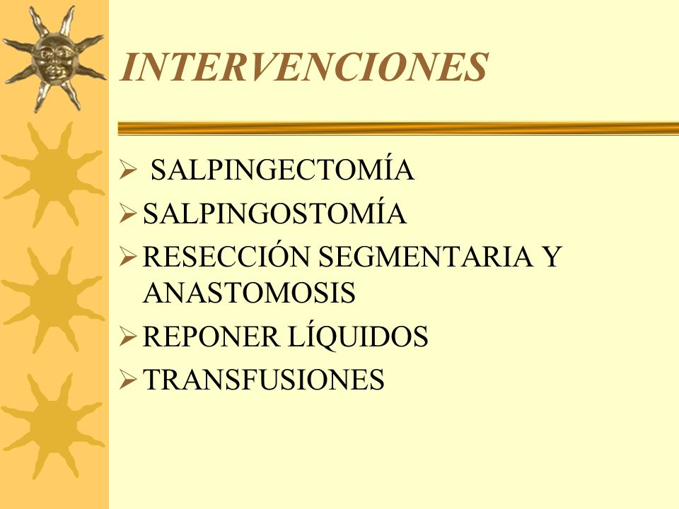 INTERVENCIONES SALPINGECTOMÍA SALPINGOSTOMÍA