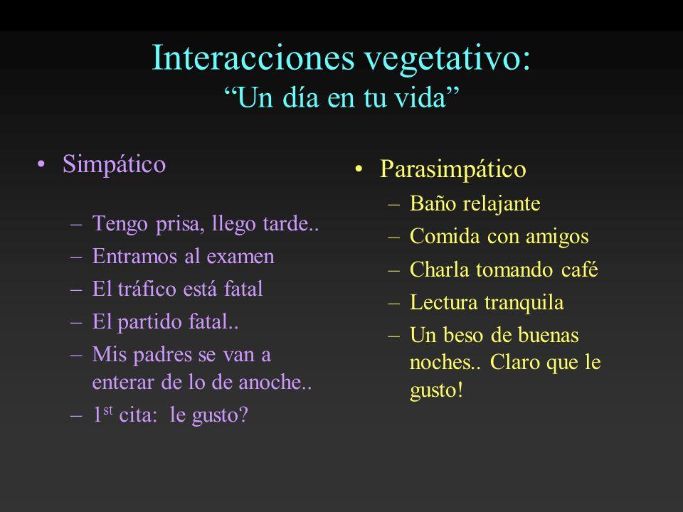 Interacciones vegetativo: Un día en tu vida
