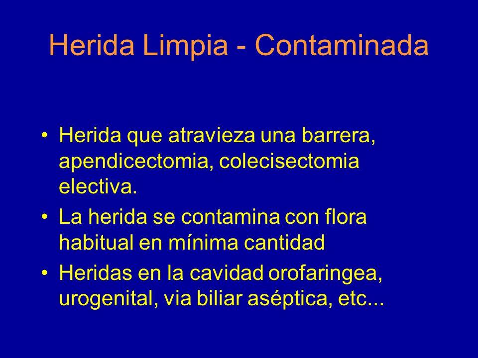 Herida Limpia - Contaminada