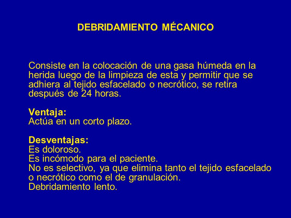 DEBRIDAMIENTO MÉCANICO