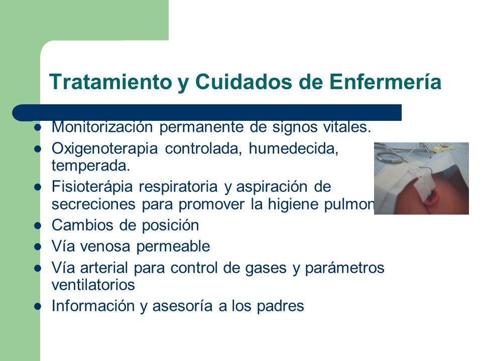 Tratamiento y Cuidados de Enfermería