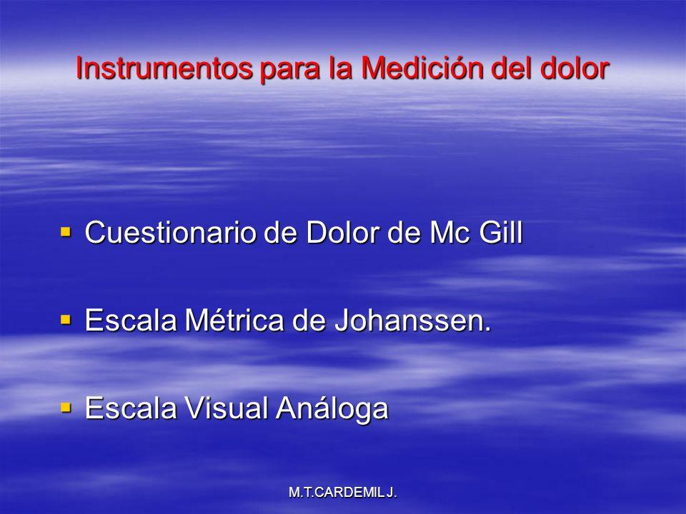 Instrumentos para la Medición del dolor