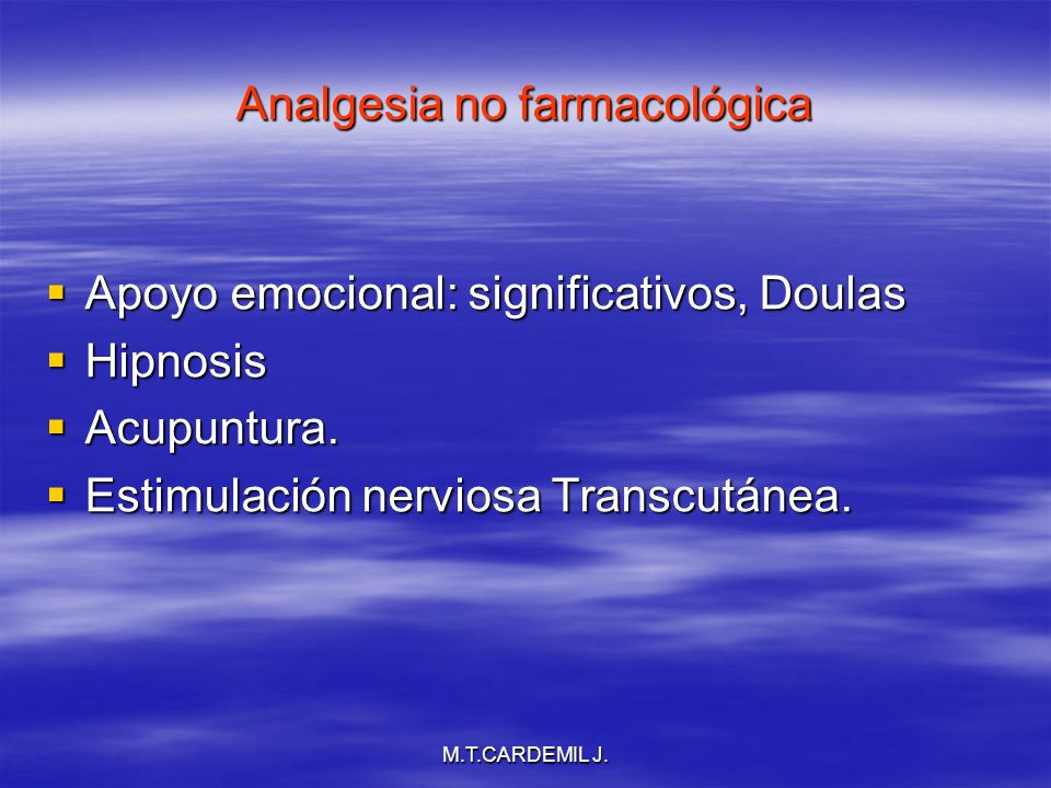 Analgesia no farmacológica