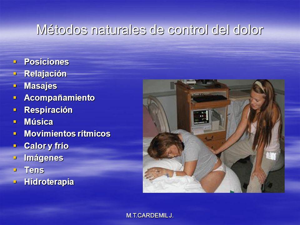 Métodos naturales de control del dolor