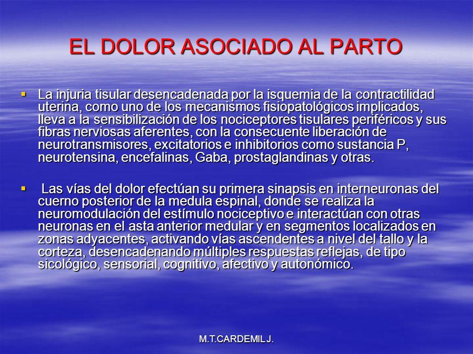 EL DOLOR ASOCIADO AL PARTO