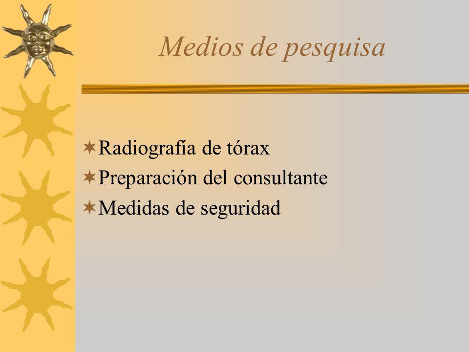 Medios de pesquisa Radiografía de tórax Preparación del consultante