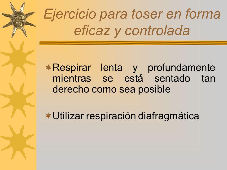 Ejercicio para toser en forma eficaz y controlada