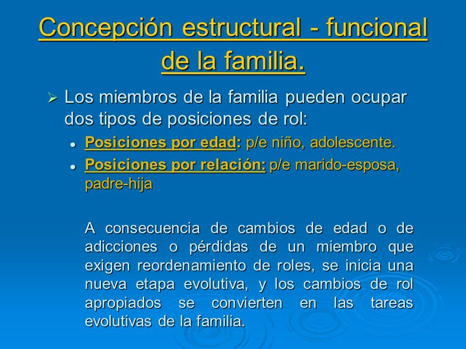 Concepción estructural - funcional de la familia.