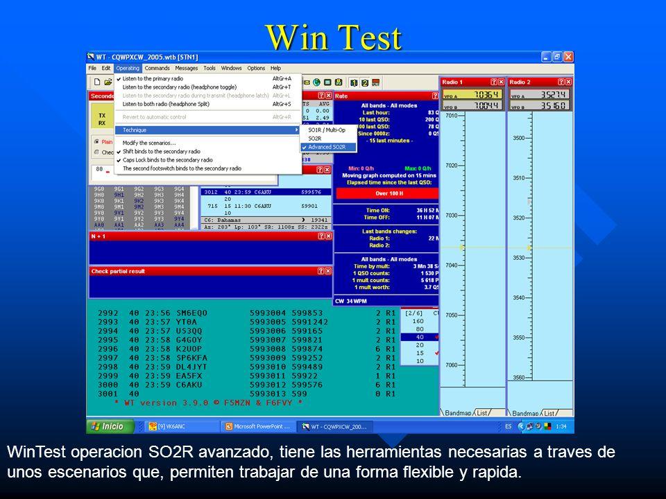 Win TestWinTest operacion SO2R avanzado, tiene las herramientas necesarias a traves de.