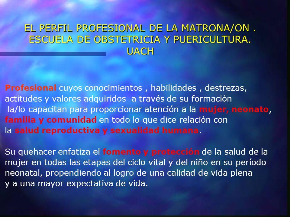 EL PERFIL PROFESIONAL DE LA MATRONA/ON