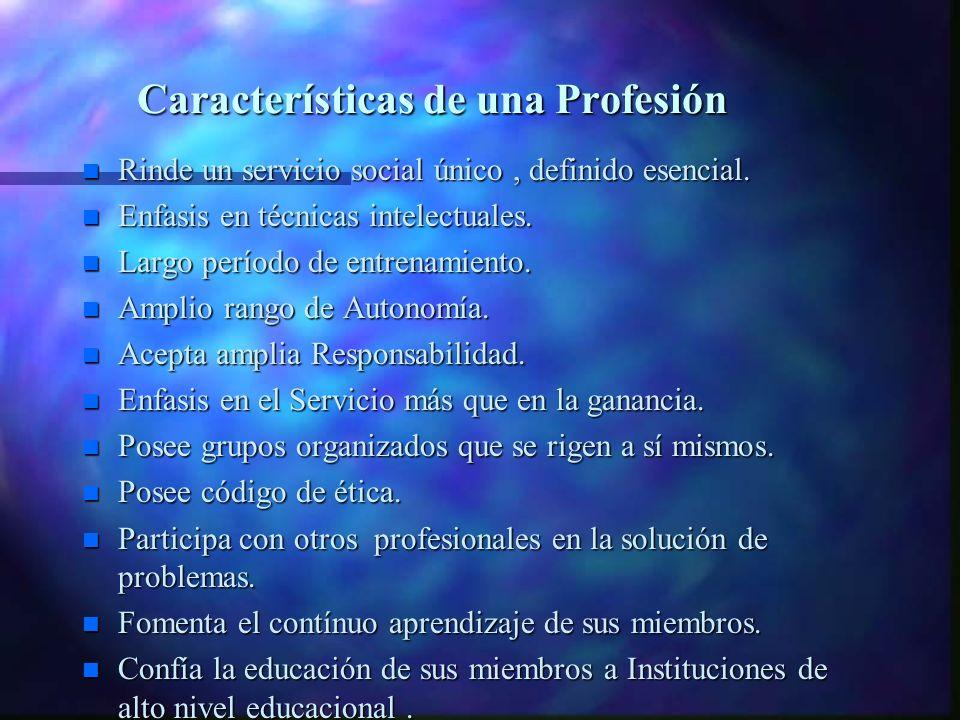 Características de una Profesión