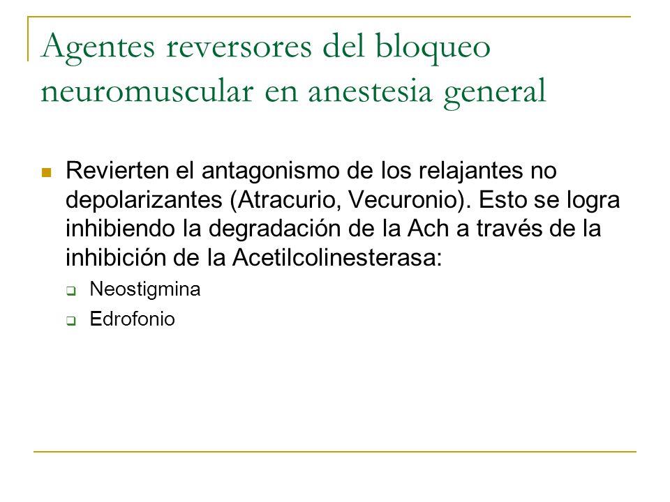 Agentes reversores del bloqueo neuromuscular en anestesia general