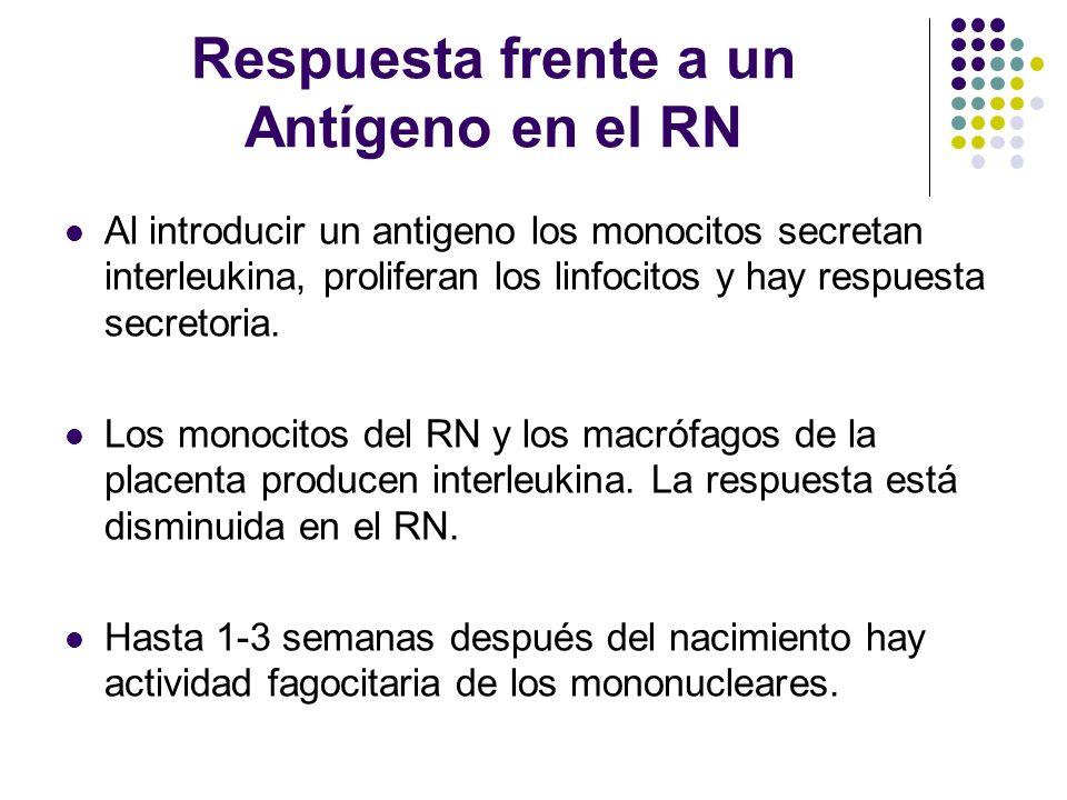 Respuesta frente a un Antígeno en el RN