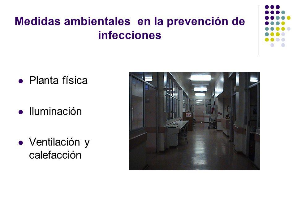 Medidas ambientales en la prevención de infecciones