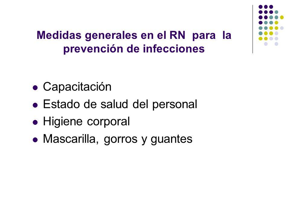 Medidas generales en el RN para la prevención de infecciones