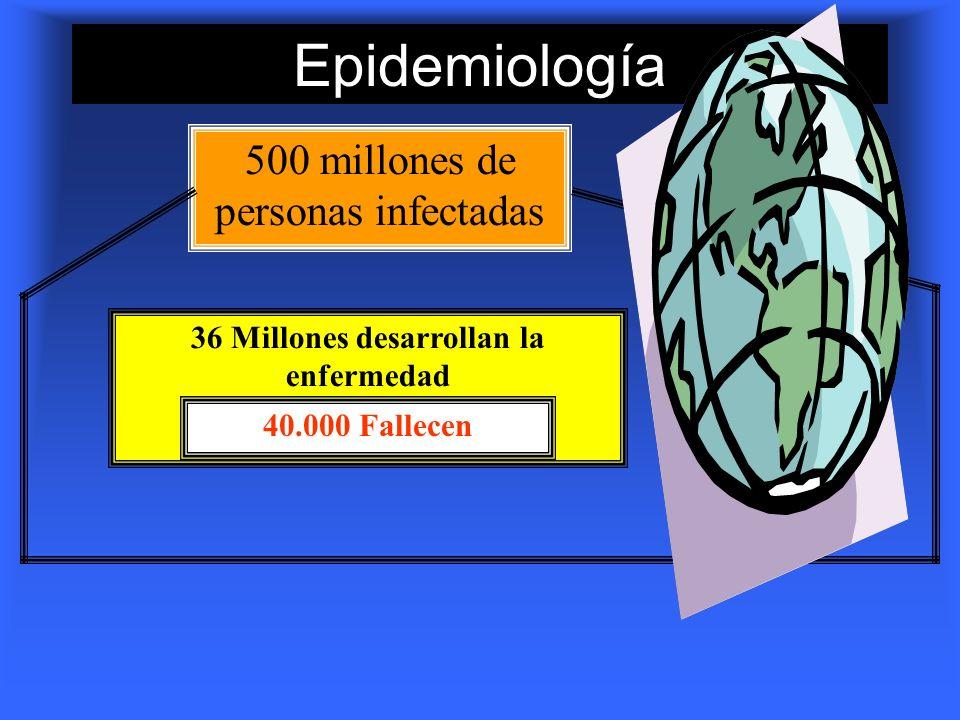 36 Millones desarrollan la enfermedad