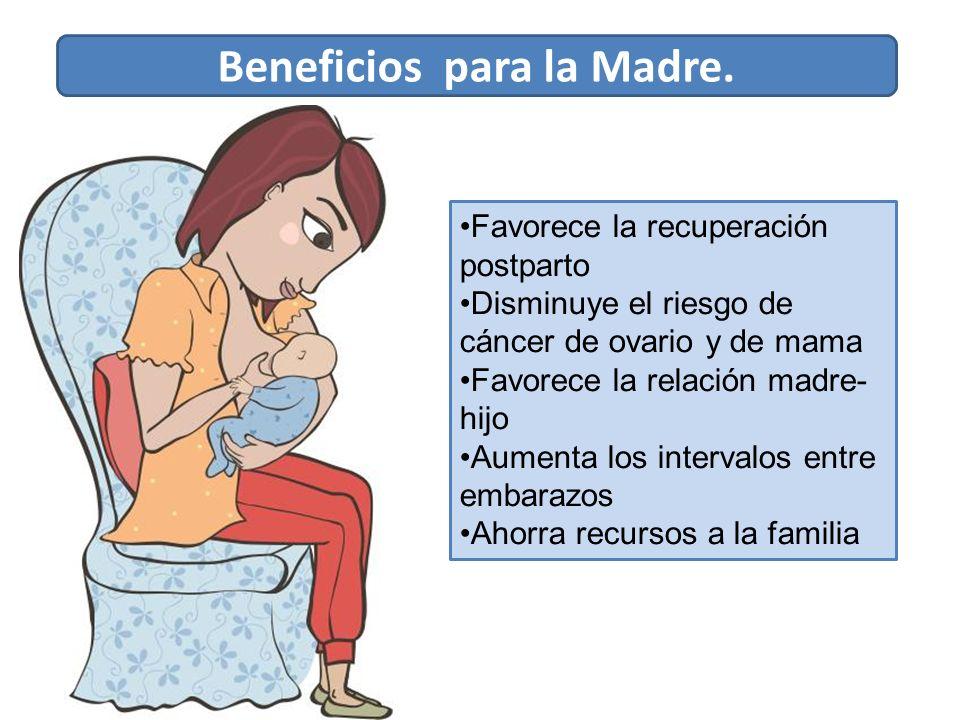 Beneficios para la Madre.