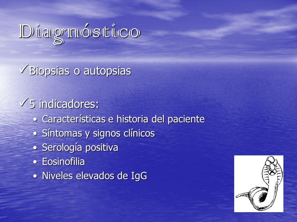 Diagnóstico Biopsias o autopsias 5 indicadores: