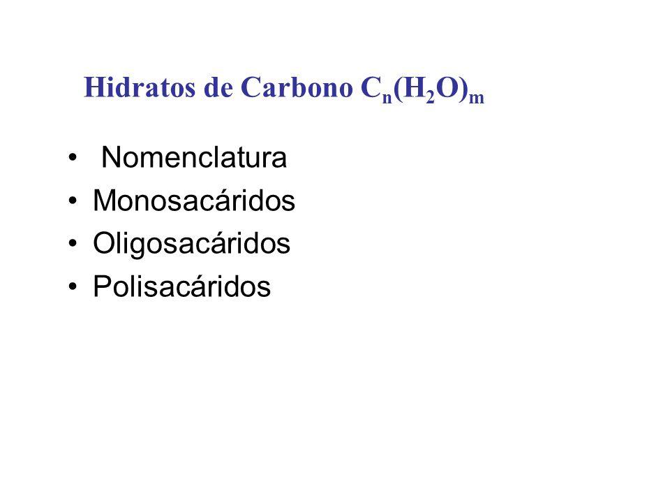 Hidratos de Carbono Cn(H2O)m